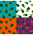 set of seamless patterns with avocado vector image vector image