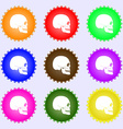 Skull icon sign Big set of colorful diverse vector image vector image