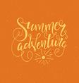 Summer Adventure vector image vector image