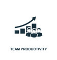 team productivity icon premium style design from vector image