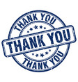 Thank you blue grunge round vintage rubber stamp