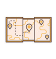 tourist map line icon vector image