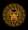 traditional sun tattoo vector image