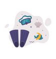 travel or vacation accessories set scuba diving vector image
