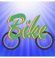 Two Bike Wheels vector image vector image