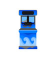 video game machine with binoculars and decorated vector image vector image