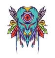 Freak blue monster art design vector image