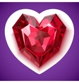 Ruby red angular heart icon vector image