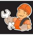 Cartoon Handyman with Tools vector image