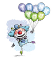 Clown with Balloons Saying Thank You Boy Colors vector image