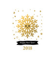 2018 happy new year card or background vector image vector image