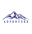 abstract mountain adventure abstract logo icon vector image vector image