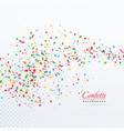 abstract tiny confetti transparent background vector image