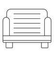 armchair icon outline style vector image vector image