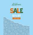 back to school school supplies sale poster vector image vector image