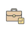 bag briefcase business ok portfolio vector image vector image