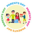 banner dedicated to parents day depicting family vector image