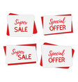 banners for saleposters template mock up vector image vector image
