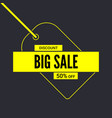 big sale poster get up to fifty percent discount vector image vector image