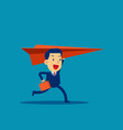 business man and paper airplane concept vector image