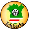 button Ichkeria vector image vector image