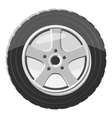 Car wheel icon gray monochrome style vector image vector image