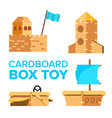 cardboard toy playground activity box vector image vector image