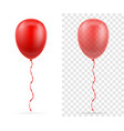 celebratory red transparent balloons pumped vector image vector image
