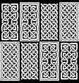 celtic style endless knot tile vector image vector image