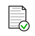 checklist icon flat for web stock design vector image vector image