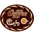 coffee icon or logo for cafeteria or coffee menu vector image