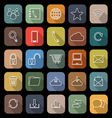 Communication line flat icons with long shadow vector image vector image