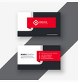 creative red professional business card template vector image vector image