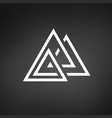 creative trinity futuristic triple triangle vector image vector image