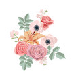 drawing flowers composition vector image