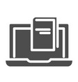 e-book solid icon reading vector image vector image