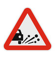 ejection of gravel icon flat style vector image vector image