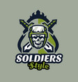 emblem badge logotype military skull helmet vector image vector image