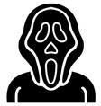 evil mask vector image vector image