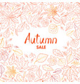 fall leaf nature background autumn leaves pattern vector image