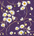 fashion seamless pattern golden chains and daisy vector image vector image
