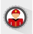 fire fighter vector image vector image