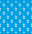 frigate pattern seamless blue vector image vector image