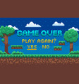 game over end playing play again question vector image
