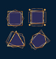 geometric and golden frames vector image vector image
