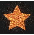 Gold star logo sparkling effect Star burst of vector image vector image