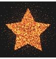 gold star logo sparkling effect star burst vector image