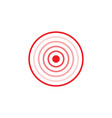 gradient circles inside red ring vector image vector image