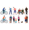 grandparents old seniors people in medical face vector image vector image