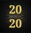happy new year glitter gold confetti or vector image